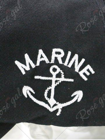 Online Boat Anchor Letters Printed Baseball Cap - RED  Mobile