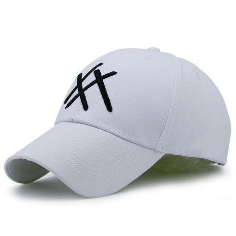 Best Geometric Patterned Baseball Cap WHITE