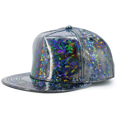 Outfit Flat Brimmed Laser Hip Hop Baseball Cap SILVER