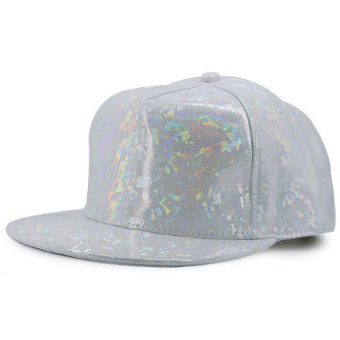 Fancy Flat Brimmed Laser Hip Hop Baseball Cap