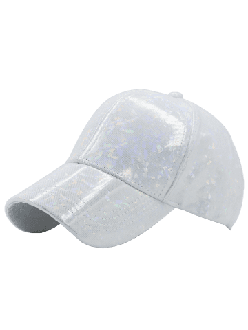 Chic Laser Hip Hop Baseball Cap - WHITE  Mobile