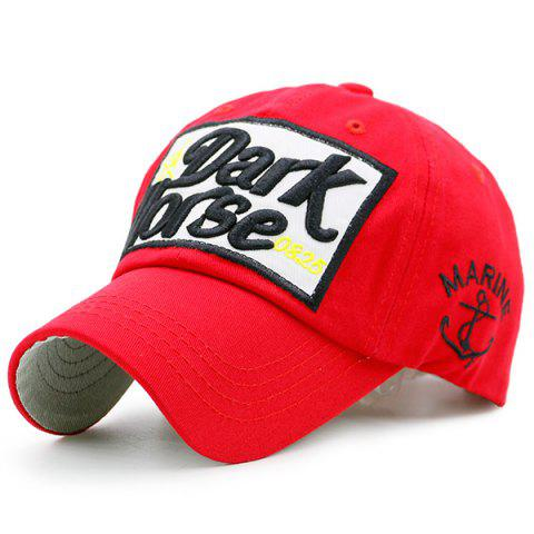 New Boat Anchor Letters Patterned Baseball Cap