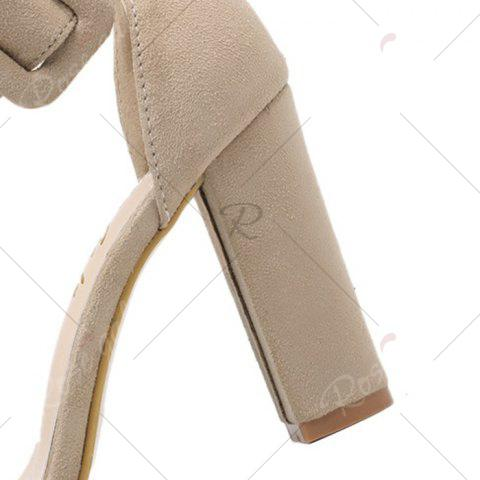 Outfits High Heel Ankle Strap Sandals - 39 APRICOT Mobile