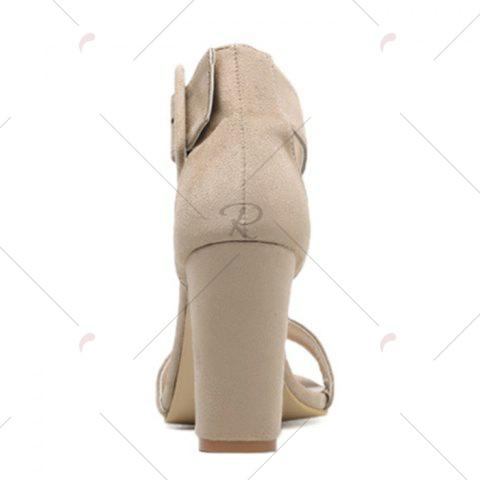 Chic High Heel Ankle Strap Sandals - 39 APRICOT Mobile