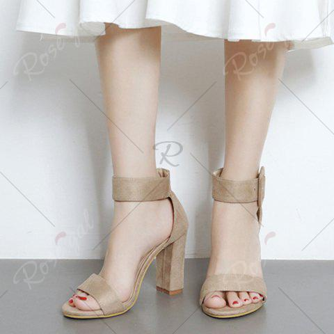 Trendy High Heel Ankle Strap Sandals - 39 APRICOT Mobile