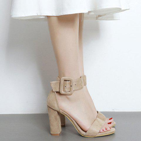 Chic High Heel Ankle Strap Sandals