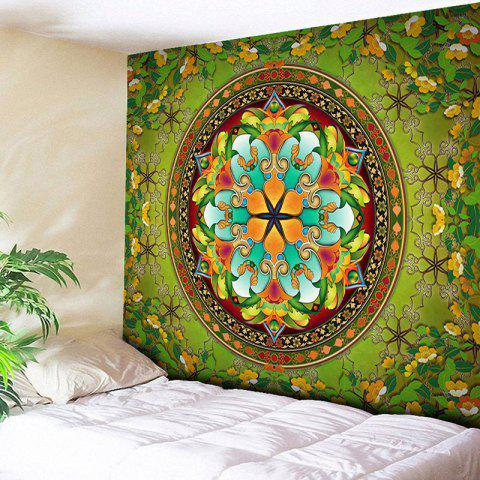 Flower Wall Hanging Mandala Home Decor Tapestry - Green - W59 Inch * L79 Inch