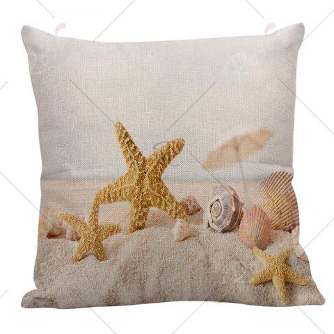 Online Home Decor Starfish Conch Print Pillow Case - 45*45CM GINGER Mobile