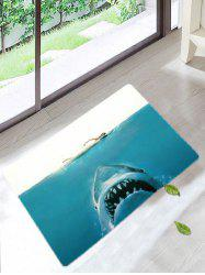 Shark and People Antiskid Bath Rug