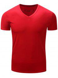 V Neck Slimming Short Sleeve T-Shirt