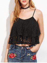 Lace Layer Flounce Cami Top