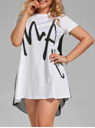Plus Size Letter Graphic T-shirt Dress