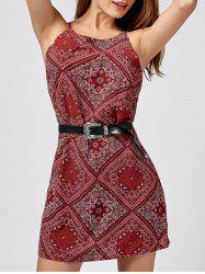 Paisley Print Mini Sundress -