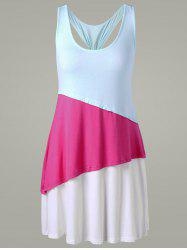 Color Block Racerback Tunic Top
