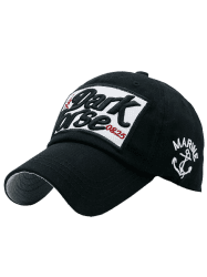 Boat Anchor Letters Printed Baseball Cap