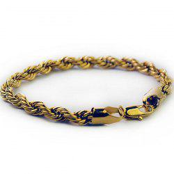 Link Plated Twisted Rope Bracelet
