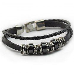 Faux Leather Braided Wrap Bracelet