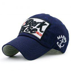 Boat Anchor Letters Patterned Baseball Cap