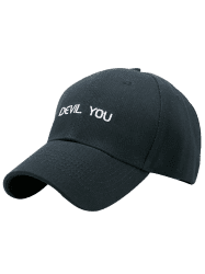 Letters Patterned Sun Baseball Cap