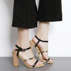 Color Block High Heel Sandals