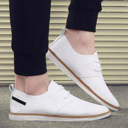 Faux Leather Striped Casual Shoes