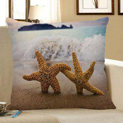 Starfish Beach Style Decorative Pillow Case - LIGHT BLUE