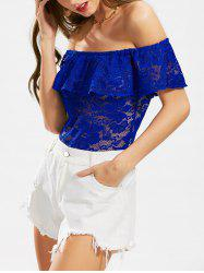 Flounce Lace Off The Shoulder Bodysuit