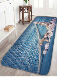 Wood Grain Tower Fishing Net Nautical Bath Rug