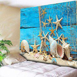 Wall Hanging Beach Starfish Wood Home Tapestry