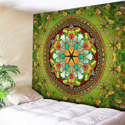 Flower Wall Hanging Mandala Home Decor Tapestry - GREEN