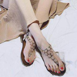 Flat Heel Flowers Elastic Sandals