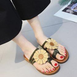 Flower Toe Ring Flat Heel Slippers