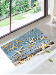 Skidproof Wood Grain Starfish Fishing Net Rug