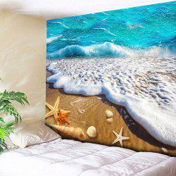 Wall Hanging Beach Scenery Print Home Tapestry