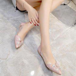 Rhinestones Transparent Plastic Flat Shoes