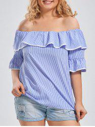 Bell Sleeve Off The Shoulder Plus Size Top