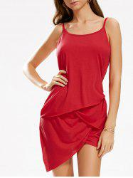 Asymmetric Mini Club Slip Dress
