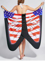 Butterfly Beach Wrap Cover Up Dress - US FLAG M