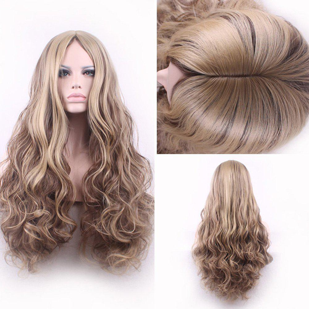 Long Center Part Layered Shaggy Curly Synthetic WigHAIR<br><br>Size: 24INCH; Color: GOLDEN BLONDE; Type: Full Wigs; Cap Construction: Capless (Machine-Made); Style: Curly; Material: Synthetic Hair; Bang Type: Middle; Length: Long; Length Size(CM): 60; Weight: 0.1600kg; Package Contents: 1 x Wig 1 x Hair Net 1 x Comb 1 x Hair Clip ( Set );