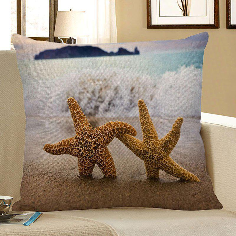 Fancy Starfish Beach Style Decorative Pillow Case