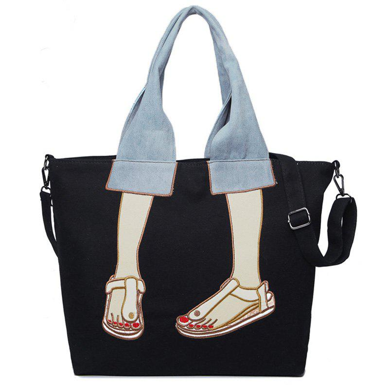 Latest Canvas Funny Embroidery Tote Bag
