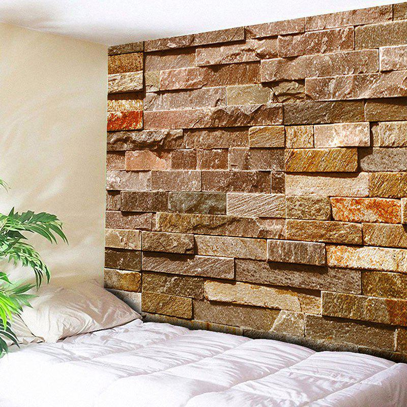 Brick Wall Hanging Printed Home Decorative TapestryHOME<br><br>Size: W59 INCH * L59 INCH; Color: BRICK-RED; Style: Fresh Style; Theme: Architecture; Material: Cotton,Polyester; Feature: Removable,Washable; Shape/Pattern: Print; Weight: 0.2000kg; Package Contents: 1 x Tapestry;