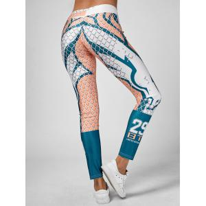 Grid Graphic Ankle Length Leggings - MULTI ONE SIZE