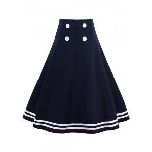 A Line Knee Length Skirt