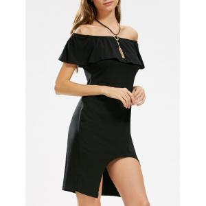 Asymmetric Ruffle Off The Shoulder Dress