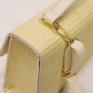 Woven Straw Cross Body Handbag - OFF-WHITE