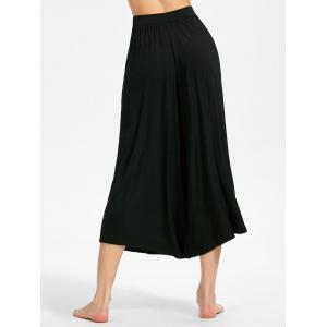 High-waisted Cropped Wide Leg Pants -