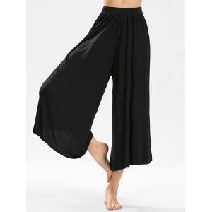 High-waisted Cropped Wide Leg Pants