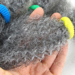 Long Fluffy Afro Kinky Curly Synthetic Hair Bulk - GRAY