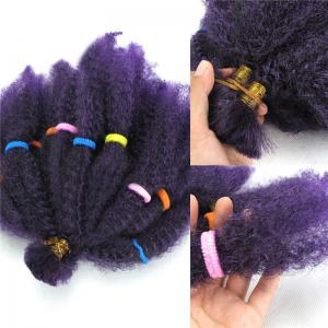 Long Fluffy Afro Kinky Curly Synthetic Hair Bulk - Purple